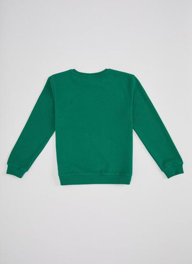 DeFacto Erkek Çocuk Basic Selanik Kumaş Sweatshirt Yeşil